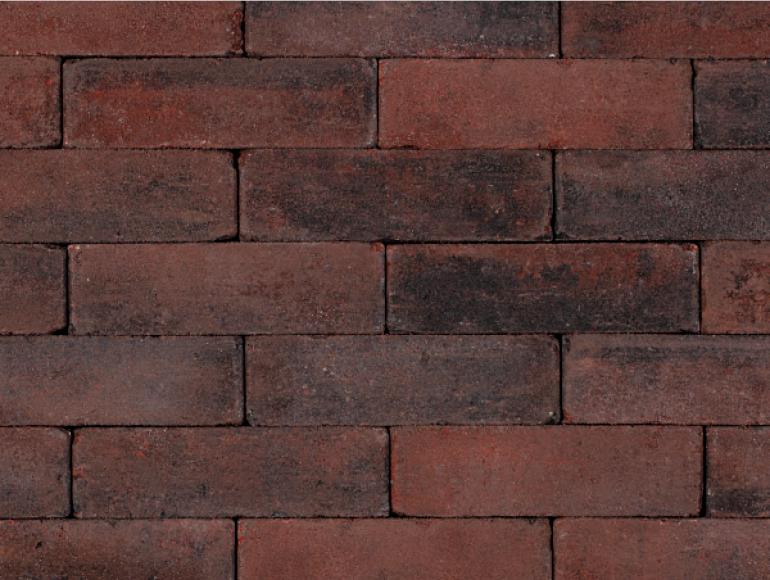 Trommelstenen dikformaat Friesland Rood-zwart