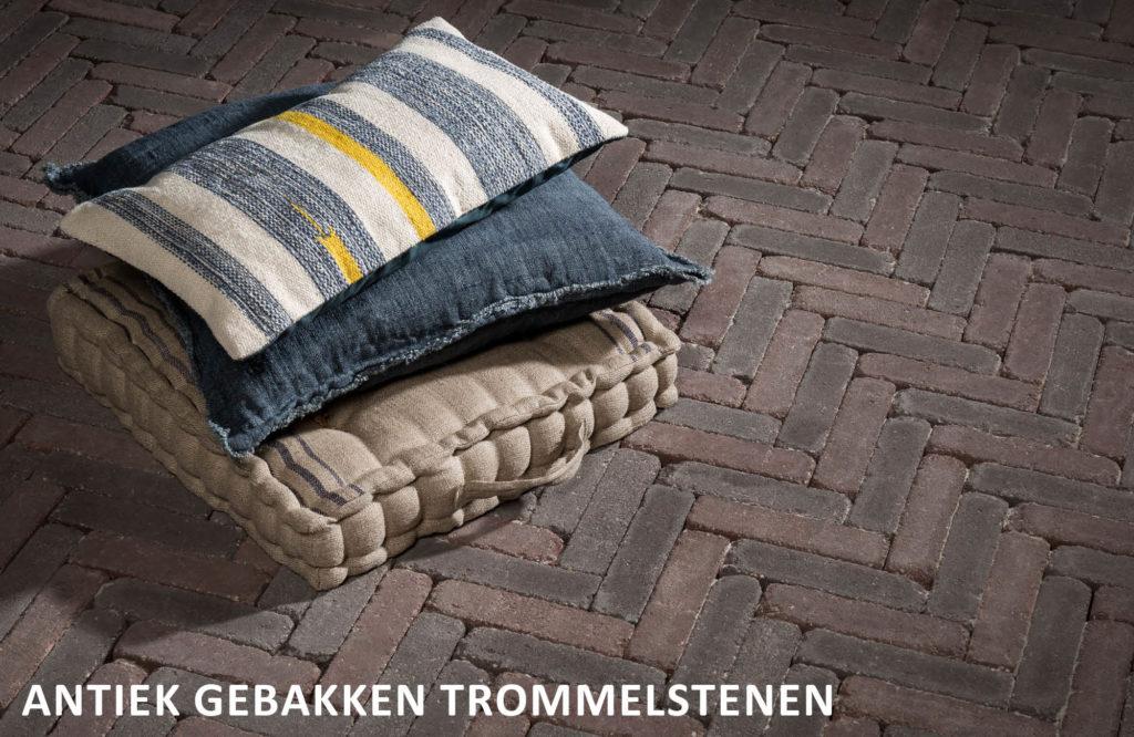 Antiek gebakken trommelstenen Friesland