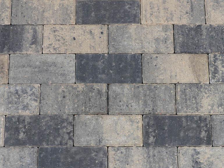 Betonklinkers Friesland grijs zwart